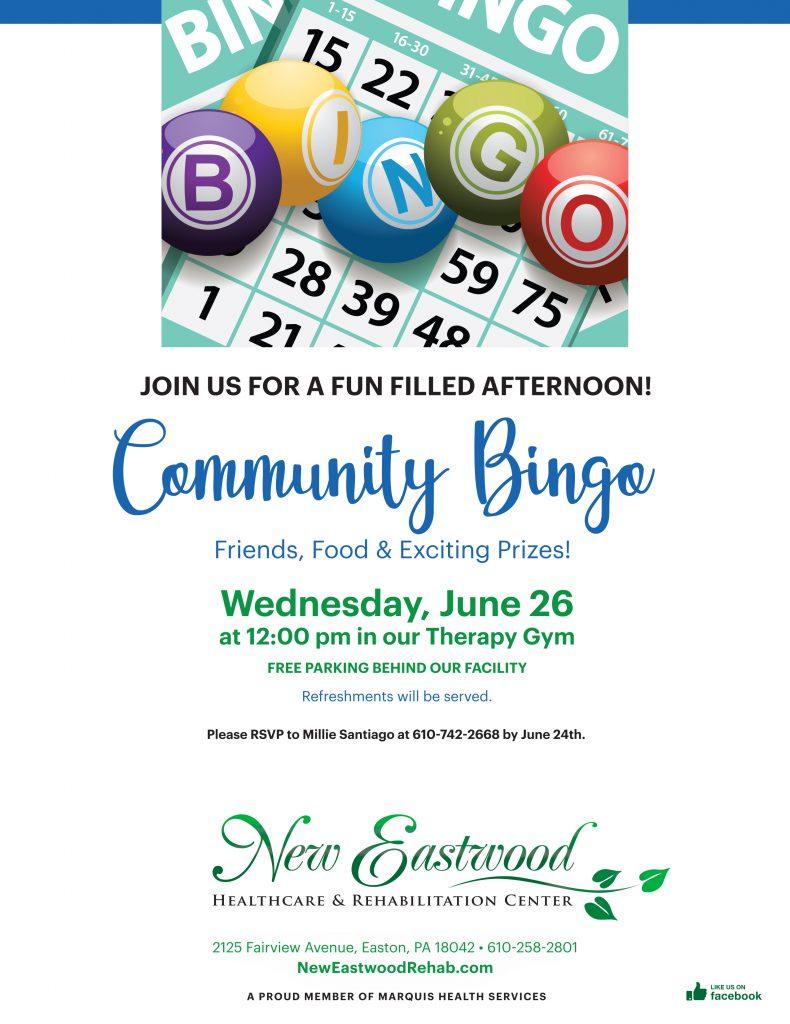 Community Bingo - 6/26
